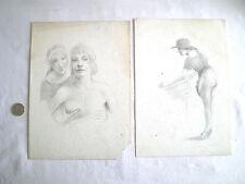 CURIOSA 2 DESSINS ÉROTIQUES ANNÉES 1920/1930