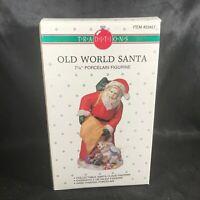 """Vintage Traditions Porcelain 7-1/4"""" Old World Santa Figurine Original Box"""