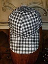 Buffalo Check Plaid Baseball Hat snapback black and  WHITE NWT