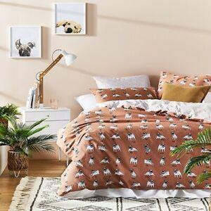 Home Republic PJ Pug Quilt Cover Set & Two European Pillowcase
