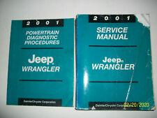 Oem 2001 Jeep Wrangler Service Manual & Powertrain Diagnostic Preocedures Manual