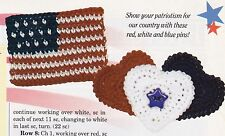 PATRIOTIC Liberty Pins/Apparel/ Crochet Pattern INSTRUCTIONS ONLY