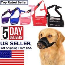 Pet Dog Cat Adjustable Mask Anti Stop Bark Bite Mesh Mouth Muzzle Pet Grooming