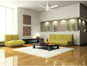 """Casablanca ceiling fan """"Bullet"""" 54"""" appliance white with wall remote"""
