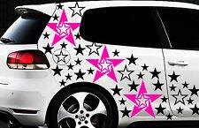 93-teiliges Sterne Star Auto Aufkleber Set Sticker Tuning WANDTATTOO Blumen Ste