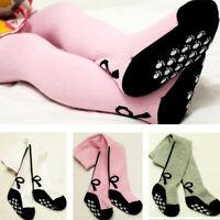 Baby Girls Toddler Kids Bow Anti-slip Soft Cotton Leggings Socks