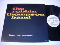 PROMO The Robbin Thompson Band Two B's Please 1980 Stereo LP VG++