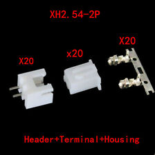 40*Neu XH2.54-2P Connector Kits 2.54mm Pin Header + 20* 2P Terminal + 20*Housing