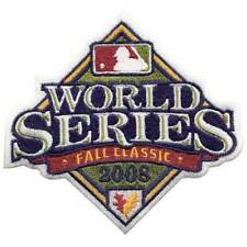Authentic MLB 2008 World Series Baseball Patch Rays NIP