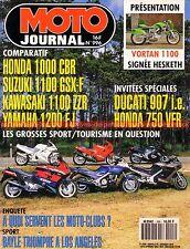 MOTO JOURNAL  996 DUCATI 907 HONDA CBR VFR KAWASAKI ZZR YAMAHA FJ SUZUKI GSX-F
