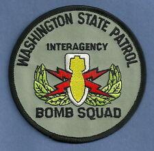WASHINGTON STATE PATROL BOMB SQUAD POLICE PATCH