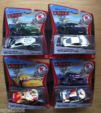 Disney PIXAR Cars 2 SILVER RACER 2nd set 4 metallic KMART COLLECTOR DAY 9 lot