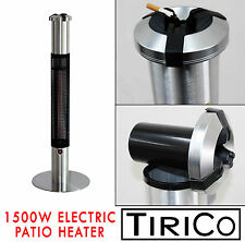 Electric Patio Heater Carbon Lamp 1500W. Non Gas with ashtray ash tray