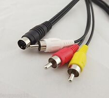 7 Pin S Video to 3 RCA TV Male Cable Lead for Laptop PC Audio Computer Connector