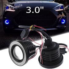 """3.0"""" Blue Projector LED Fog Daytime DRL Light COB Halo Angel Eyes FIT Chrysler"""