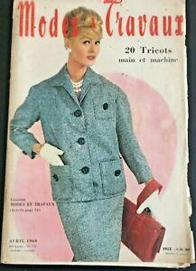 Magazine Modes & Travaux Avril  1960