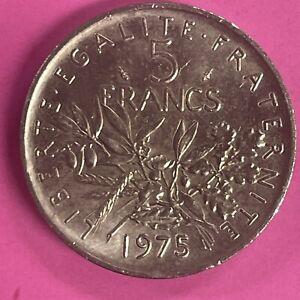 5 FRANCS 1975  PIEFORT NICKEL SUP TIRAGE 200 EXEMPLAIRES (586)