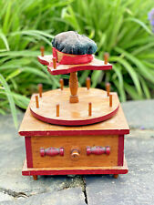 Antique Sewing Box Thread Spool Dispenser Drawer Pin Cushion