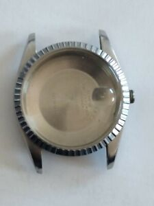 Genuine Rolex 16014 Stainless Steel Watch Case w/ Back, Crystal, perfect