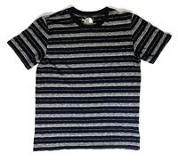 The North Face Mens S Short Sleeve Cotton Shirt Striped Navy Blue