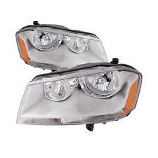 2008-2014 Dodge Avenger 08-14 SE SXT Headlights Halogen Left Right Pair