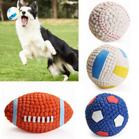 Dog Ball Chew Toy Soft Rubber Pet Bite Interactive Toys Training Ball Non-toxic