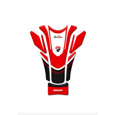 Motorcycle Tank Pad Protector Sticker | Ducati Corse Red 1200R
