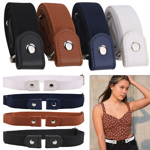 New Buckle Free Elastic Invisible Belt No Bulge Hassle Waistband for Men Women