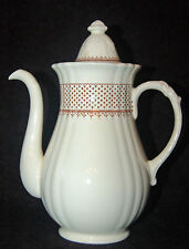 "WONDERFUL MASON'S ""ASHLEA"" BROWN/WHITE TRANSFERWARE COFFEE POT"