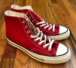 Mens New Converse Chuck Taylor 70s Hi 164944c Enamel Red/Egret/Black Shoes 9.5