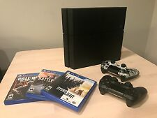 PlayStation 4 PS4 500GB CUH-1215A bundle 3 games - two controllers, original box
