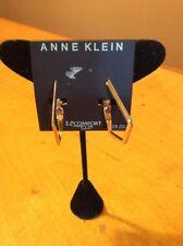 $28 Anne klein GOLD  tone hoop earrings CLIP ON  AKJ132