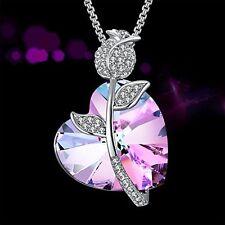 Anniversary Birthday Gift For Her Girls Girl Necklace Pendant Heart Swarovski