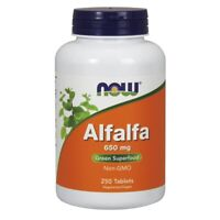 Now Foods Alfalfa 650 mg - 250 Tablets FRESH, FREE SHIPPING, MADE IN USA