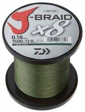 Daiwa J - Braid X8 fach geflochten Schnur dunkelgrün 0,24 mm  18,0 kg (0,09�'�/1m)