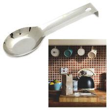 Stainless Steel Spoon Rest Heat Resistant Kitchen Utensil Spatula Holder Decor !