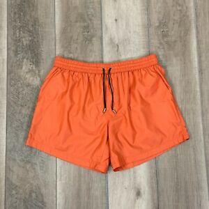 Dolce & Gabbana D&G Beachwear Swim Suit Trunks Shorts Lined Orange Men's Size XL
