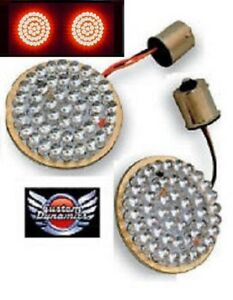 "CUSTOM DYNAMICS 2"" LED BULLET Style Turn Signal for Harley's GEN-200-R-1156 New"