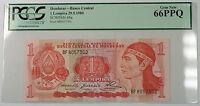 29.5.1980 Honduras Banco Central 1 Lempira Note SCWPM# 68a PCGS 66 PPQ Gem New