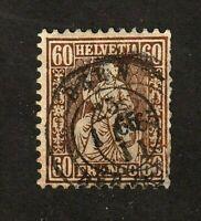 Switzerland stamp #48, used, 1862-64, wmk. 182, SCV $180