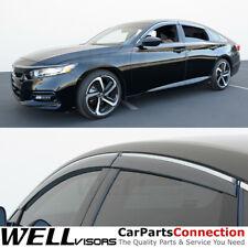 WellVisors Window Visors 18-20 For Honda Accord Sedan Wind Deflectors Chrome