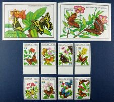 Schmetterlinge 1992 Ghana Genua Genova 1692-1699 + Block 199-200 MNH/261