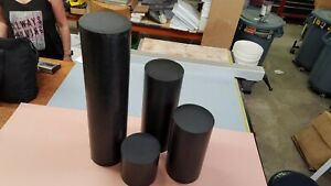 "6"" dia x 60"", (5 feet) long BLACK POLYPROPYLENE PP PLASTIC ROD DISC SHEET"