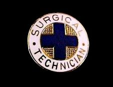Surgical Technician Pin Medical Insignia Emblem 819 Graduation Gold Plated New