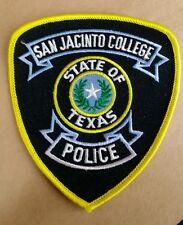 SAN JACINTO COLLEGE, TEXAS POLICE SHOULDER PATCH TX