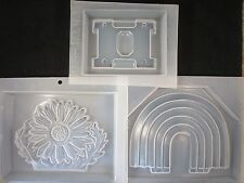 Lot of 3 Pc Resin Mold Napkin Holder Rainbow Flower Base Epoxy Embed Fun Items