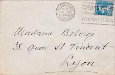 L68 enveloppe affranchissment de MARSEILLE GARE 8 XI 1924 timbre semeuse 25 c bl