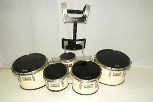 Pearl Championship Marching Tenors Quints 5 Tom Drums + Harness 6 8 10 12 13