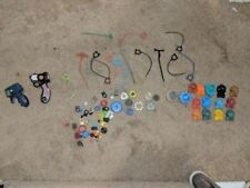 HUGE  BEYBLADE Lot, Metal Spinners, Ripcords, Launchers, parts, bey blade NICE