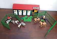 Vintage 1970's Britains  Pine Lodge Riding Stable Set Showjumper Pony 71pc